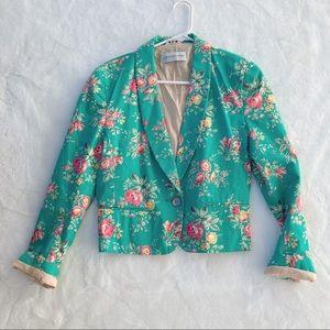 Vintage LIZ CLAIBORNE floral blazer